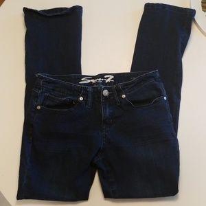 Seven7 Jeans Size 8 Rocker Slim Dark Blue